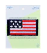Flag Fray Denim Iron-On