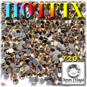 The Crafts Outlet DMC HOTFIX Superior Quality Glass 720-Piece Round Rhinestone Embellishment, 3mm, Champagne