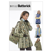 Butterick Patterns B5532 Misses' Reversible Jacket and Vest; and Tote, Size BB