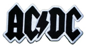 : 12.0 x 6.0 cm .AC/DC ACDC Heavy Metal Rock Punk Music Band Logo Polo T shirt Patch Sew Iron on Embroidered Costum