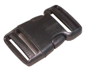 BuckleGear Side Squeeze Buckle and Slides - 2.5cm wide - set of 2