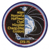 STS-75 MISSION PATCH 10cm