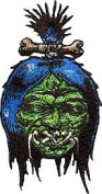 Dirty Donny Artist Patch - 9.5cm Shrunken Vodoo Head