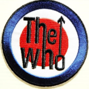 7.6cm x 7.6cm THE WHO MY GENERATION Punk Rock Music Logo Band jacket T-shirt Patch Iron on Embroidered Logo Sign Badge music patch by Tourlesjours
