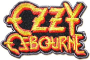 8.9cm x 5.7cm OZZY Osbourne Music Band Logo Heavy Metal Punk Rock Music Jacket T-shirt Patch Sew Iron on Embroidered Sign Badge music patch by Tourlesjours