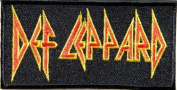 10cm x 5.1cm DEF LEPPARD Rock Punk Heavy Metal Music Band Logo jacket T-shirt Patch Iron on Embroidered Sign Badge music patch by Tourlesjours