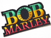 11cm x 5.7cm BOB MARLEY Rasta Music Band Logo Heavy Metal Punk Rock Music Jacket T-shirt Patch Sew Iron on Embroidered music patch by Tourlesjours