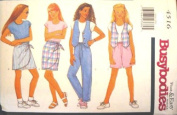 Butterick Sewing Pattern 4616 Girls' Vest, Top, Skirt, Shorts & Pants, Size 7 8 10