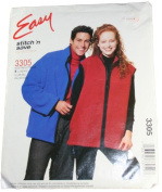 Easy Stitch 'N Save by McCall's 3305 Misses,Men,Teen Boy Unlined Jacket or Vest Size B L(42-44),XL(46-48),XXL