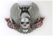 Brand:choi Rebel Rider Skull & Eagle Wings Motorcycle Biker Belt Buckle Sk-032