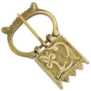Crown of Glory Mediaeval Brass Costume Belt Fastener Buckle