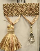 Beaded Tassel Fringe Trim 8.9cm Style# Bf 4027 61/18 Colour, Sold By the Yard