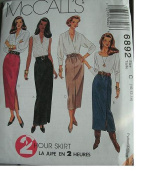 MISSES SKIRTS IN TWO LENGTHS SIZE 10-12-14 EASY MCCALLS 2 HOUR SKIRT PATTERN 6892