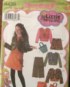 Simplicity Pattern 4439 Girls' Plus Mini Skirt, Cropped Pants, Lined Vest or Jacket, Bag and Knit Top Size BB 81/2-161/2