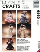 McCALL'S Sewing Pattern 6560 FANCY FROCKS ~ Victorian Doll Clothes Fit 33cm , 36cm , 41cm