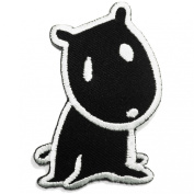 Black Puppy, Iron on Patches Dog