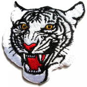 White Tiger Head, Iron on Patches