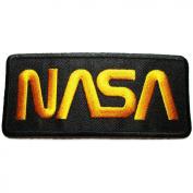 NASA Badge Iron on Patches #Black-Yellow