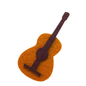 Musical Instrument Guitar DIY Applique Printed Felt Iron on Patch