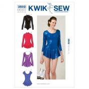 Kwik Sew K3502 Leotards Sewing Pattern, Size XS-S-M-L-XL