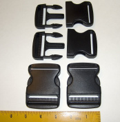 5.1cm Plastic Quick Release, Buckle Clip, Side Release, 4 Piece Set
