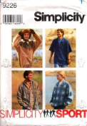 Simplicity Sewing Pattern 9226 Misses' & Men's Pullover Top & Hoodie, Size AA