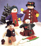 OOP McCall's Pattern 8387 or P321. Snowman Family & Clothes. 50cm & 33cm Stuffed Snow People & Snow Babydoll
