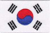 South Korea Embroidered Country Flag Patch