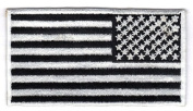 United States America U.S.A Reverse Army Military Uniform Black & White Flag Patch
