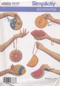 DONNA LANG ACCESSORIES WRIST BAGS SIMPLICITY CRAFT PATTERN 4989