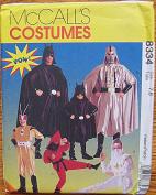 McCall's 8334 Sewing Pattern ~ Superhero Children's Halloween Costumes, Batman, Sizes 7, 8