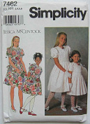Simplicity 7462 Sewing Pattern ~ Jessica McClintock Child's, Girl's Special Occasion Dress, First Communion, Sizes 3-6