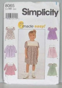 Simplicity Sewing Pattern 8065 - 6 Made Easy Toddlers Dresses Size