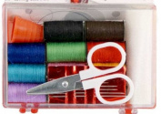 Travel Sewing Kit with Case, Thread, Needles, Scissor & More