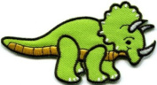 Triceratops Cretaceous Dinosaur Lizard Kids Appliques Hat Cap Polo Backpack Clothing Jacket Shirt DIY Embroidered Iron On / Sew On Patch #3