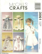 McCall's 3061 - Blanket Buddies - Patterns for 4 animal characters