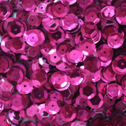 8mm CUP SEQUINS Fuschia. Loose sequins for embroidery, applique, arts, crafts and embellishment.