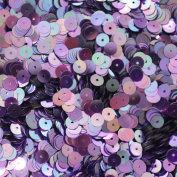 6mm Flat Round SEQUIN PAILLETTES ~ AMETHYST PURPLE Transparent Rainbow Iris ~ Loose sequins for embroidery, bridal, applique, arts, crafts, and embellishment. Made in USA.