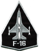 F-16 Fighting Falcon Usaf Air Force Jet Aircraft Applique Iron-on Patch S-617 Made of Thailand