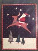Santa on Reindeer Applique Pattern