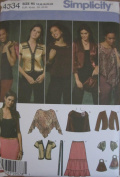 Simplicity 4334 Misses' Skirt Jacket Shrug Poncho Sewing Pattern - Size H5 6,8,10,12,14