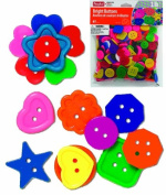 ROYLCO R2132 Bright Buttons, Assorted Sizes, Shapes and Colours, 1-Pound