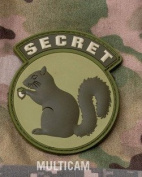 Mil-Spec Monkey Secret Squirrel PVC Patch-Multicam