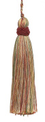 Set of 10 Decorative Wine, Gold, Green 10cm Tassel, Imperial II Collection Style# ITS Colour