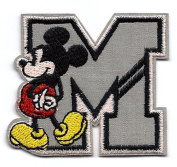 Mickey Mouse Letter M Embroidered Iron On / Sew On Patch Applque ~ Disney