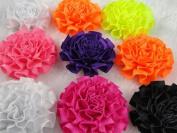 20x Mini Satin Ribbon Cabbage Flowers Wedding Decoration Appliques