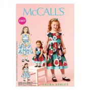 McCall Pattern Company M6875 Children's/Girls'/46cm Dolls' Dresses Sewing Template, Size CL