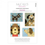 McCall's Creates W10602 Paper Quilt Creations Craft Pattern, Dog Friends Gift Card