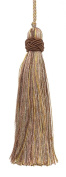Set of 10 Decorative Lt Olive Green, Lt Gold 10cm Tassel, Imperial II Collection Style# ITS Colour