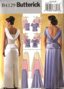 Butterick 4129 Sewing Pattern Misses Special Occasion 2 Piece Formal Dress Size 6, 8, 10 Brides Maid